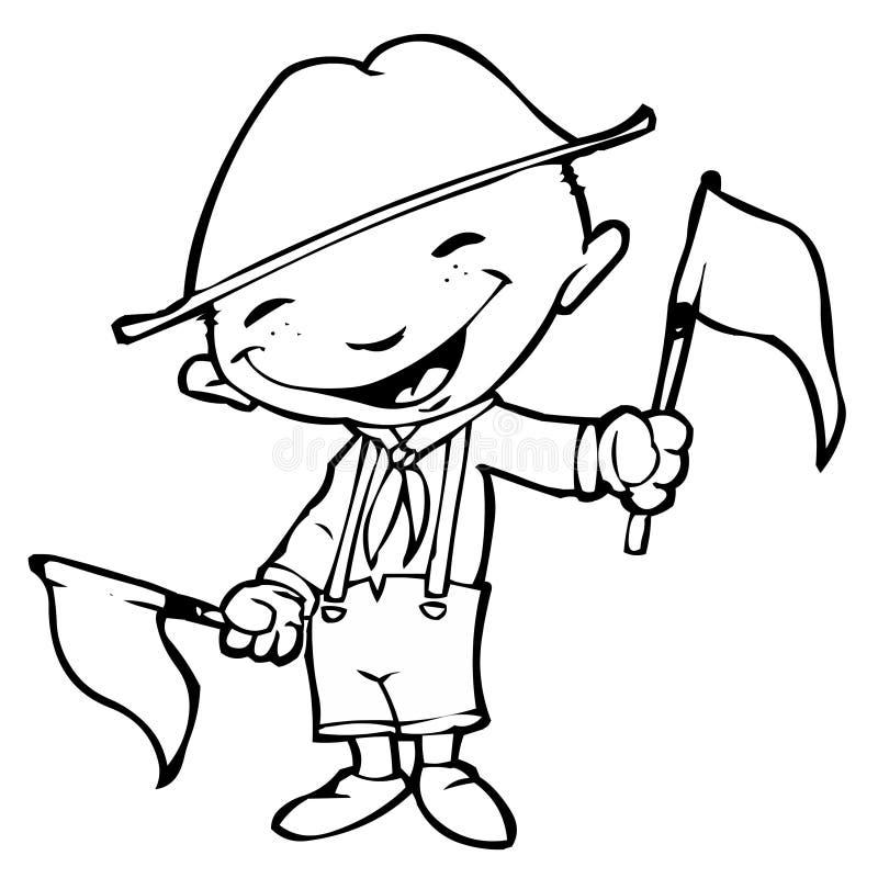 Boyscout illustration de vecteur