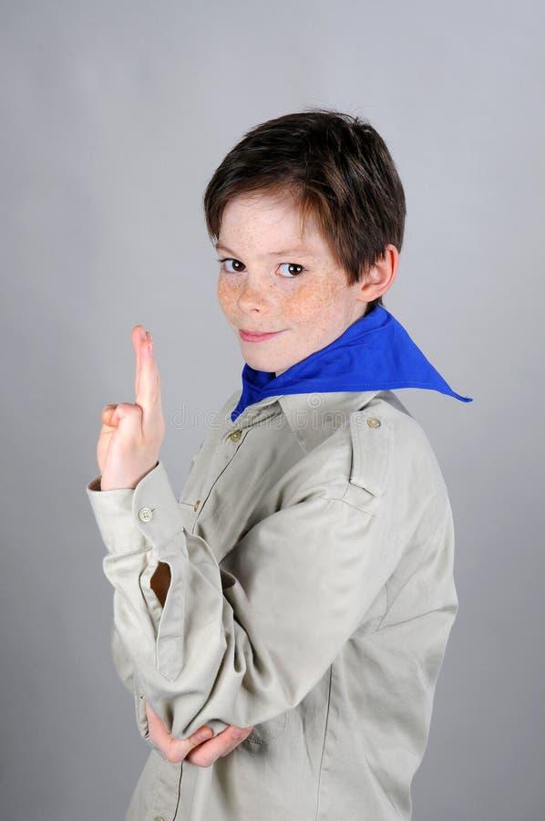 Boyscout imagen de archivo libre de regalías