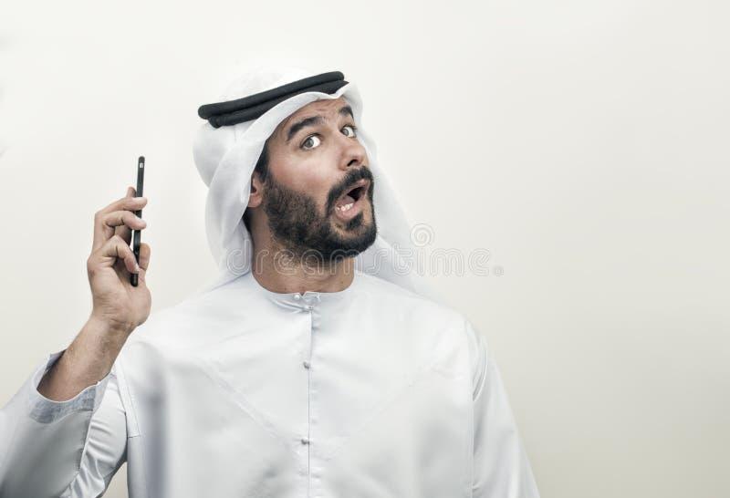 Boze Arabische Zakenman, Arabische Zakenman die woede uitdrukken stock fotografie