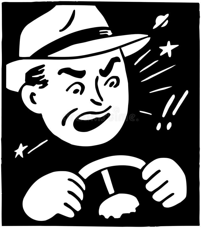 Boze bestuurder royalty-vrije illustratie