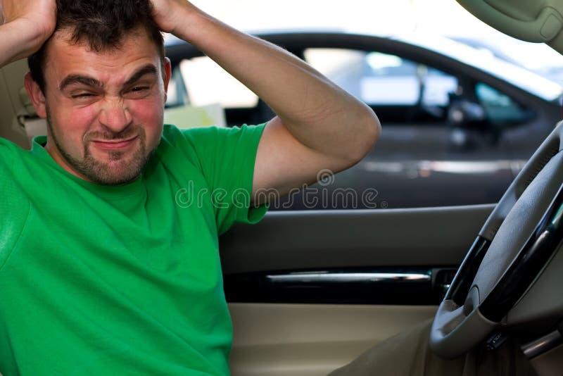 Boze bestuurder stock foto