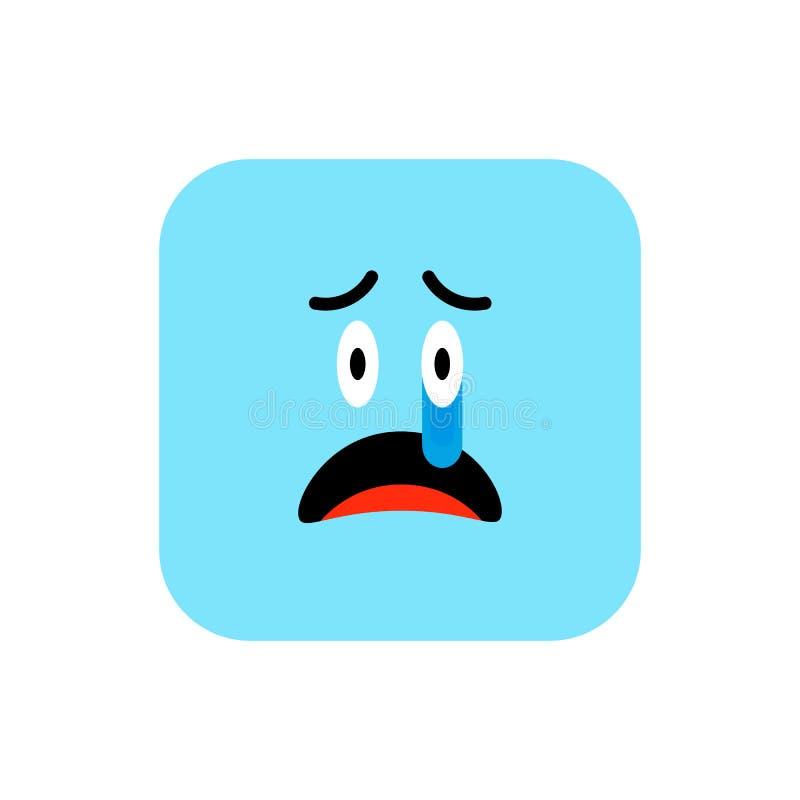 Boze Emoji-pictogram vlakke stijl Leuk Emoticon rond gemaakt vierkant aan de Dag van de Wereldglimlach Woede, Droefheid, die aan  vector illustratie