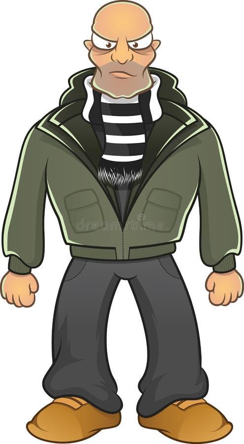 Boze geïsoleerde hooligan vector illustratie