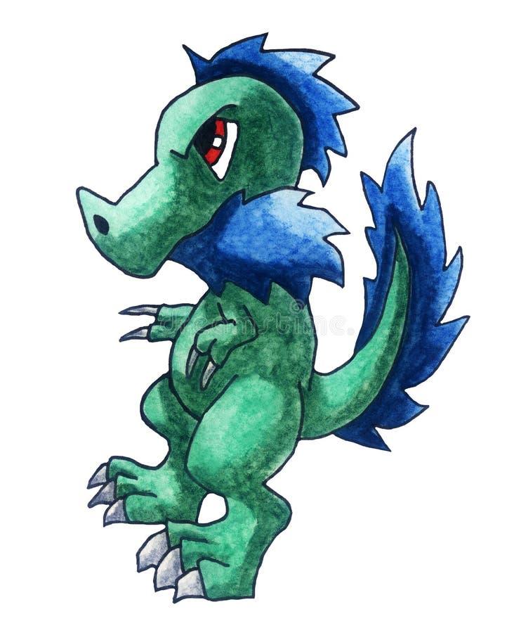 Boze Groene Draak vector illustratie