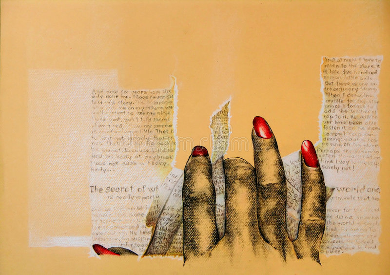 Boze hand stock illustratie