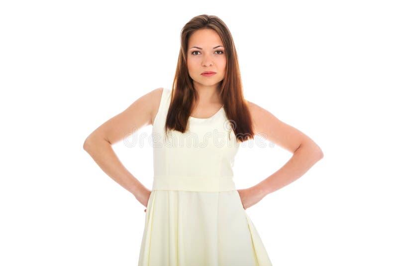 Boze jonge vrouw royalty-vrije stock afbeelding