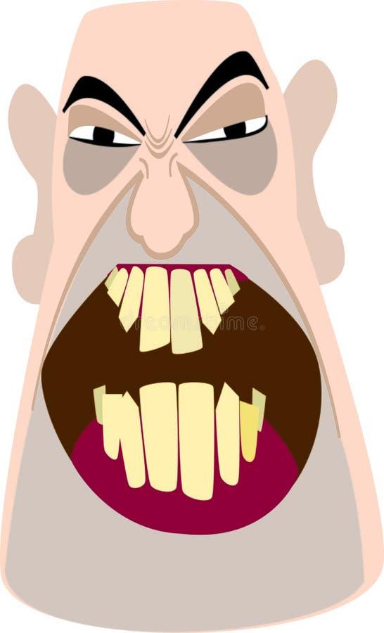Boze, kale mens vector illustratie