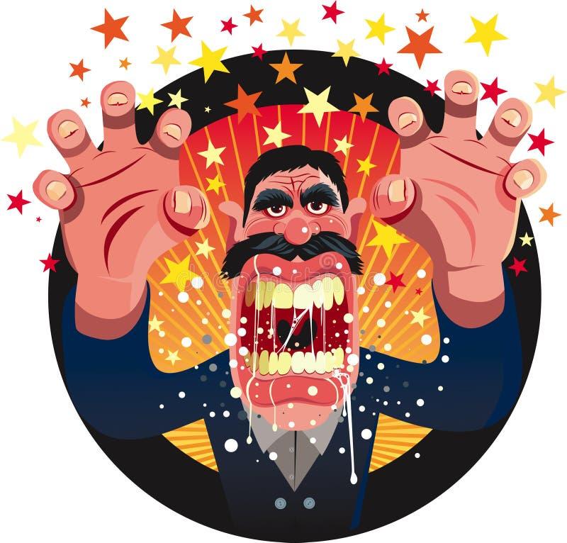 Download Boze mens vector illustratie. Afbeelding bestaande uit spanning - 16549343