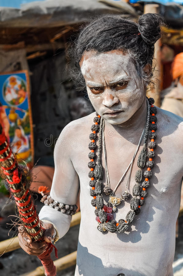 Boze mens in West-Bengalen stock foto