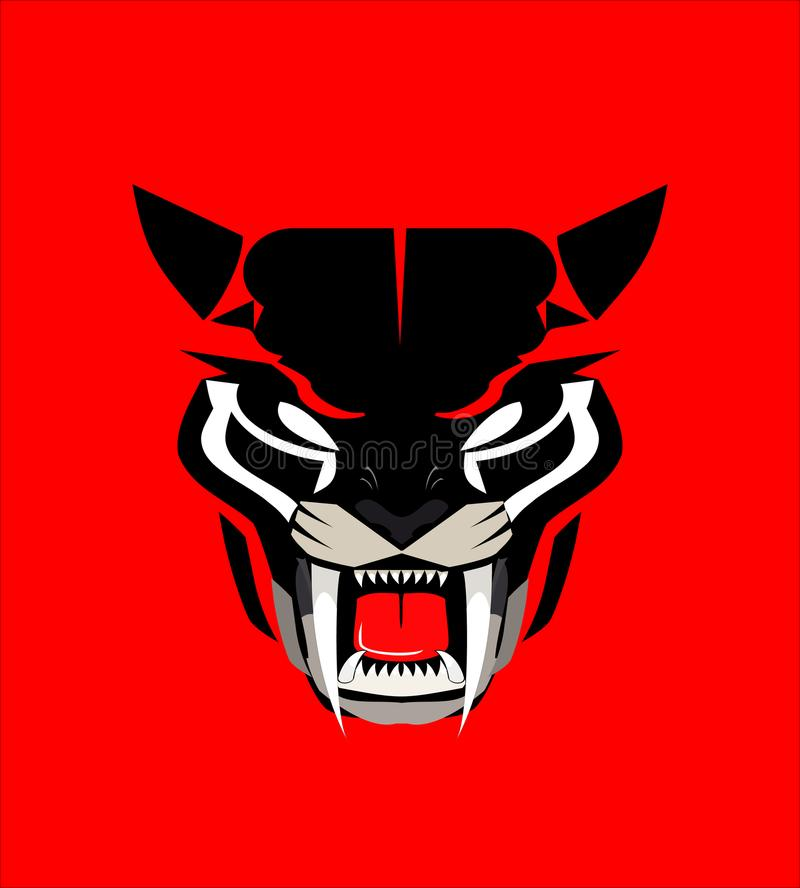 Boze panter, wilde kat vector illustratie