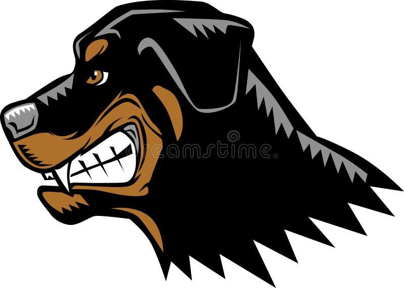 Boze Rottweiler royalty-vrije illustratie