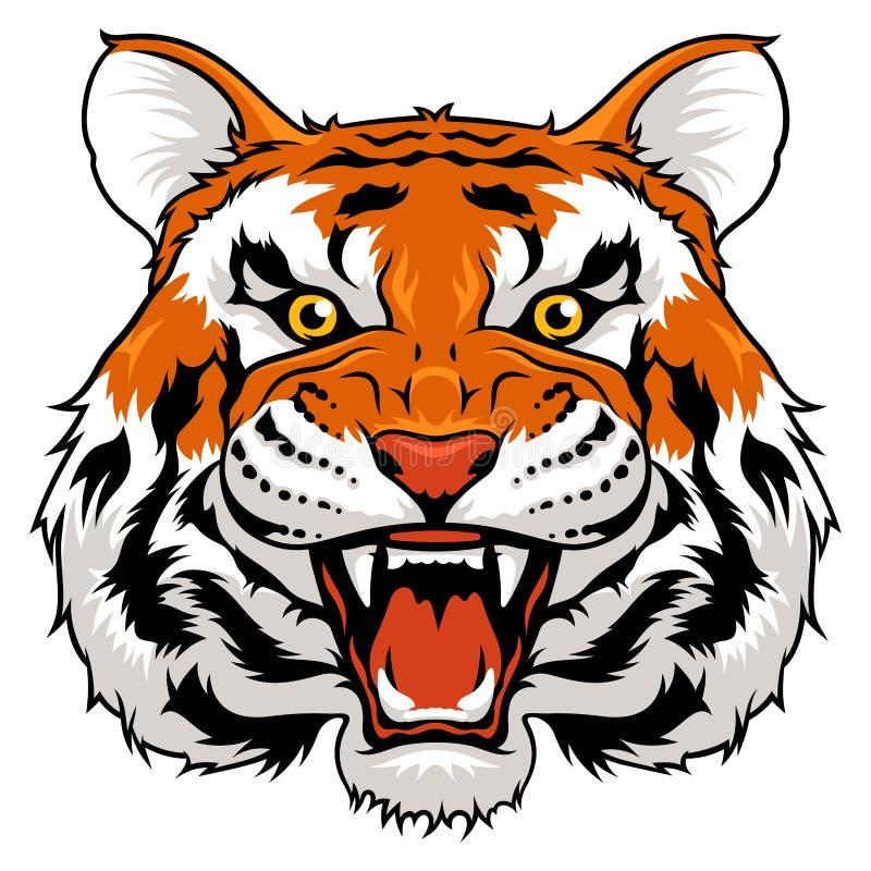 Boze tiger stock illustratie