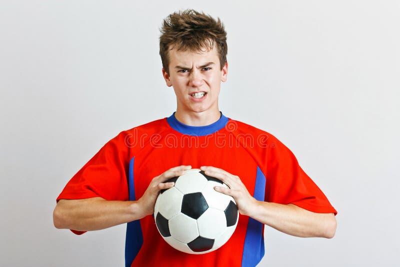 Boze voetballer royalty-vrije stock foto