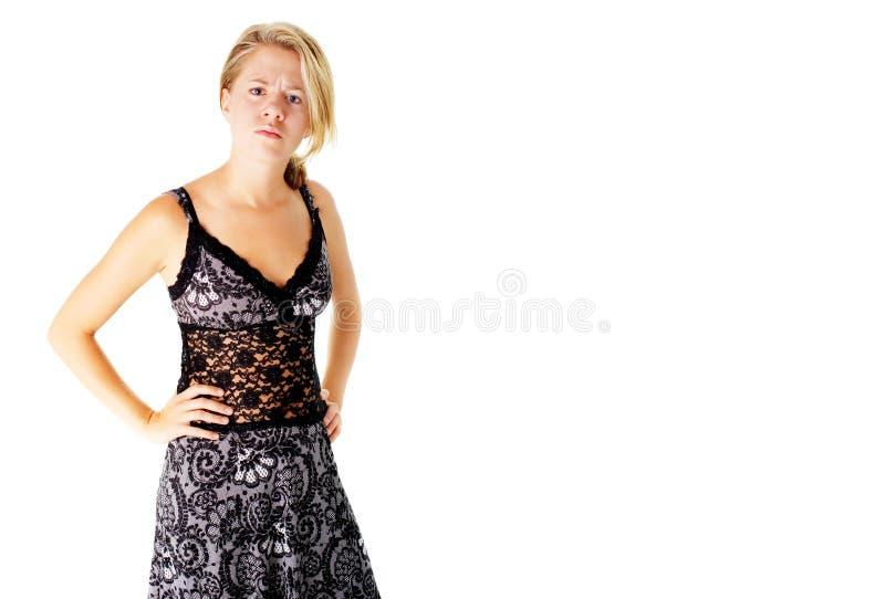 Download Boze Vrouw In Kleding Op Wit Stock Afbeelding - Afbeelding bestaande uit leuk, kleren: 10783491