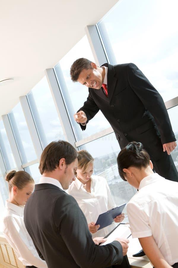 Boze werkgever royalty-vrije stock afbeeldingen
