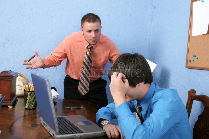 Boze Werkgever stock foto