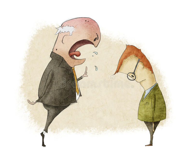 Boze werkgever royalty-vrije illustratie