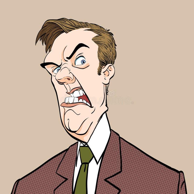 Boze Werkgever Geërgerde politicus Boze Mens Slechte emotie vector illustratie
