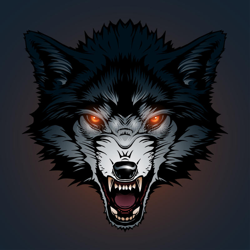 Boze wolfsillustratie vector illustratie