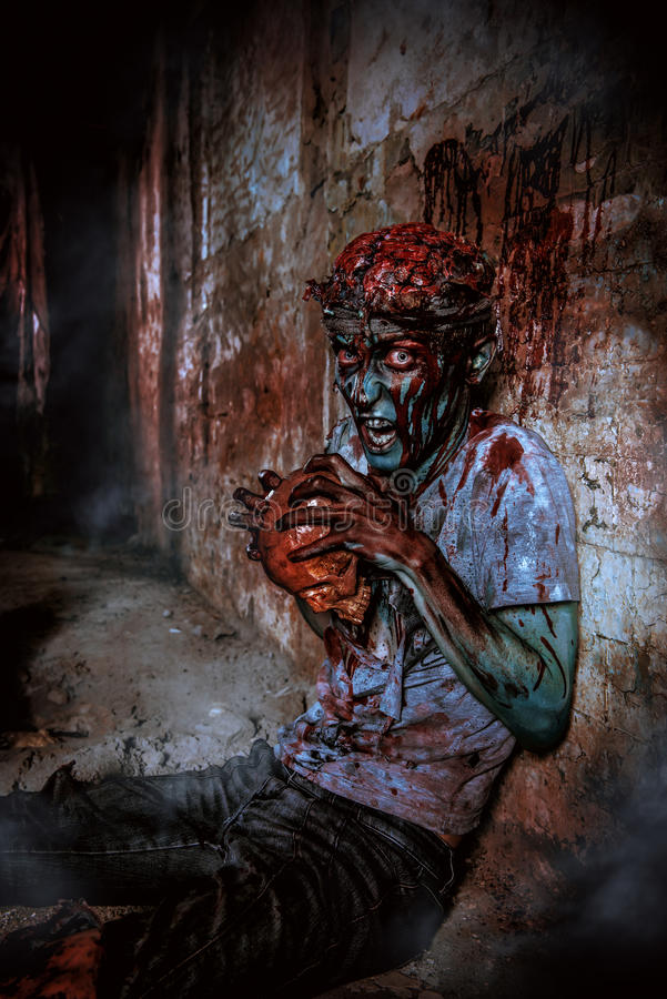 Boze zombie royalty-vrije stock afbeelding