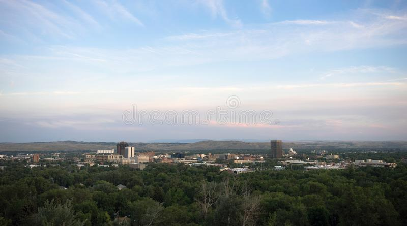 Bozeman Montana Downtown City Skyline North Amerika Förenta staterna arkivbilder