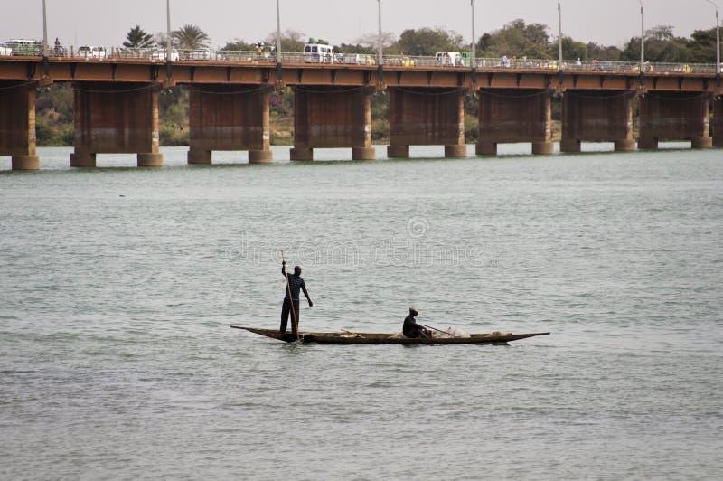 Bozofischer in Bamako, Mali stockfoto