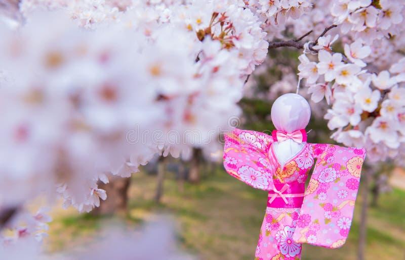 Bozu do teru de Teru Suspensão japonesa da boneca da chuva foto de stock