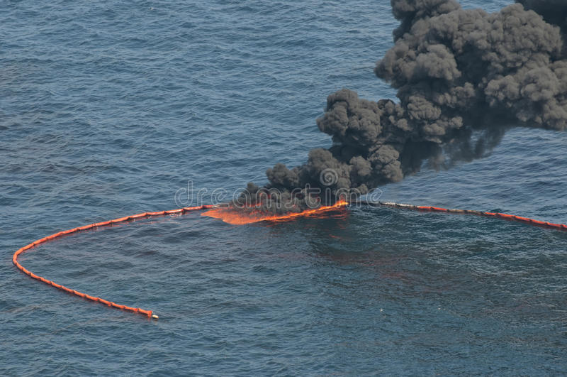 bp深水展望期漏油 图库摄影
