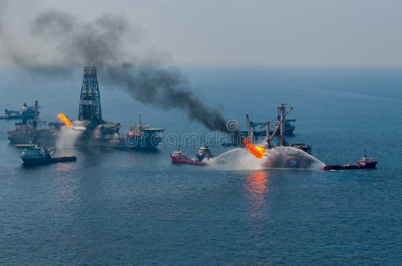 bp głębokowodny horyzontu wyciek ropy obraz stock