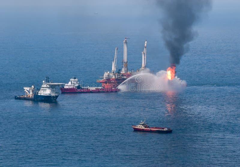 bp głębokowodny horyzontu wyciek ropy obraz royalty free