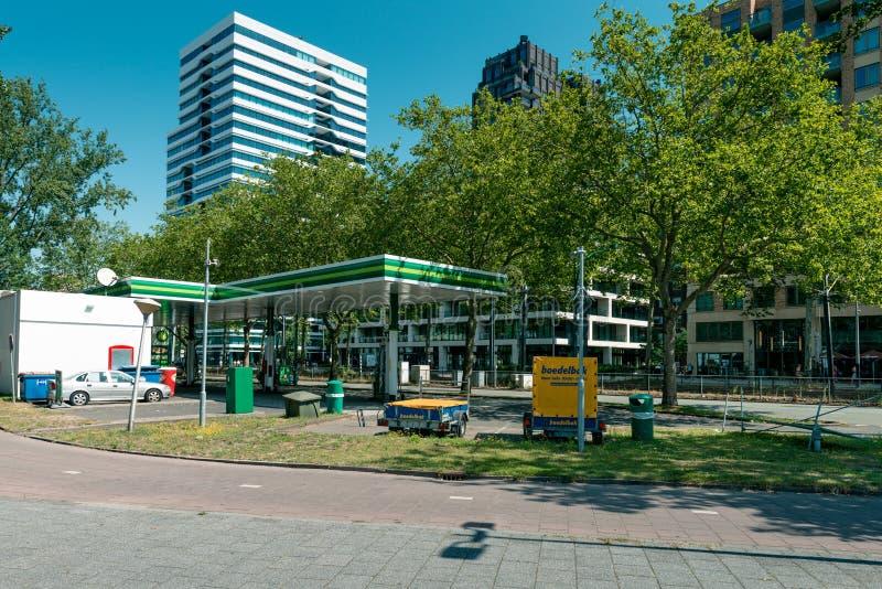 BP gas station Zuidas Amsterdam royalty free stock photos