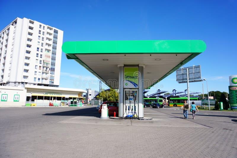 BP stacja paliwowa zdjęcia stock
