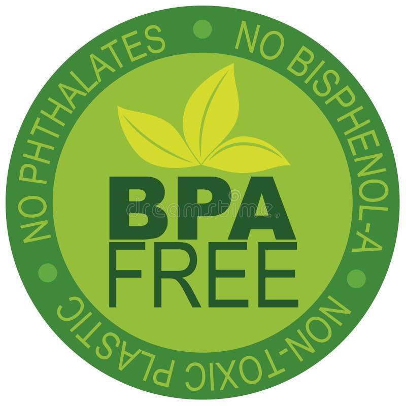 BPA Uwalniają etykietki ilustrację ilustracja wektor