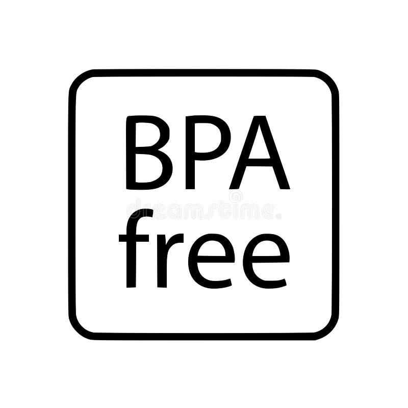 BPA uwalniają symbol ikonę ilustracji