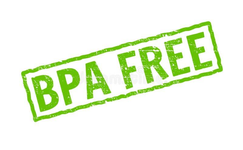 BPA uwalniają wektorową ikonę Klingerytu logo bezpłatnego znaczka bpa elementu eco skrytki toksyczna chemiczna ikona ilustracja wektor