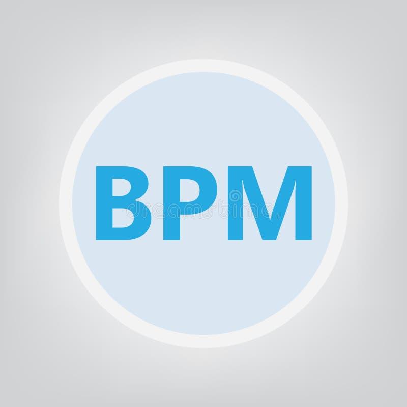 BPM商业运作管理首字母缩略词 皇族释放例证