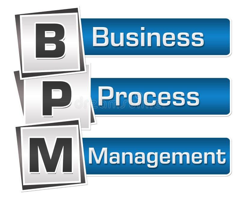 BPM -商业运作管理蓝灰色摆正垂直 皇族释放例证