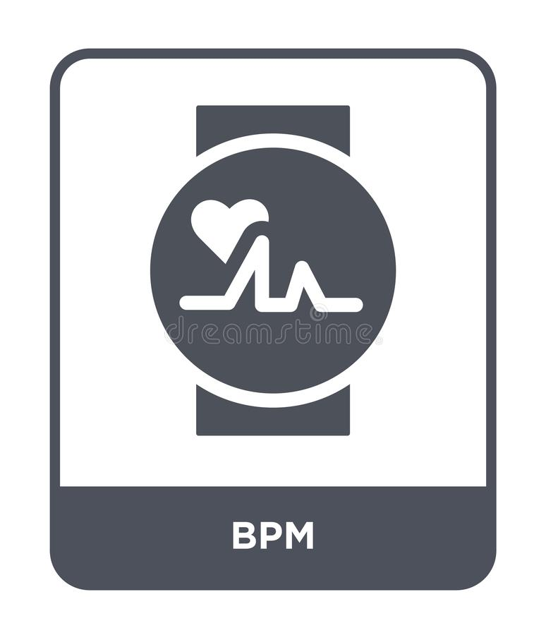 Bpm icon in trendy design style. bpm icon isolated on white background. bpm vector icon simple and modern flat symbol for web site. Mobile, logo, app, UI vector illustration
