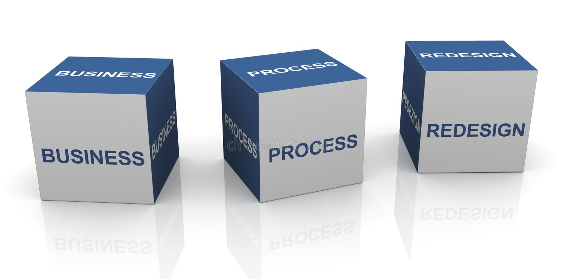 BPR - Bedrijfsprocesherontwerp vector illustratie