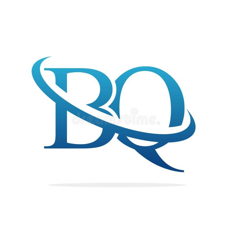 BQ het Creatieve vectorart. van het embleemontwerp royalty-vrije illustratie