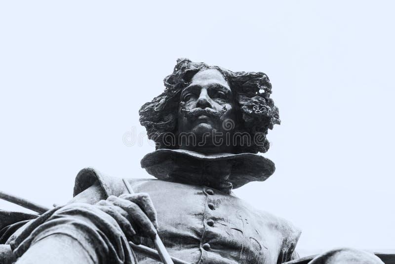 Brązowa statua Diego Velazquez malarz obrazy stock