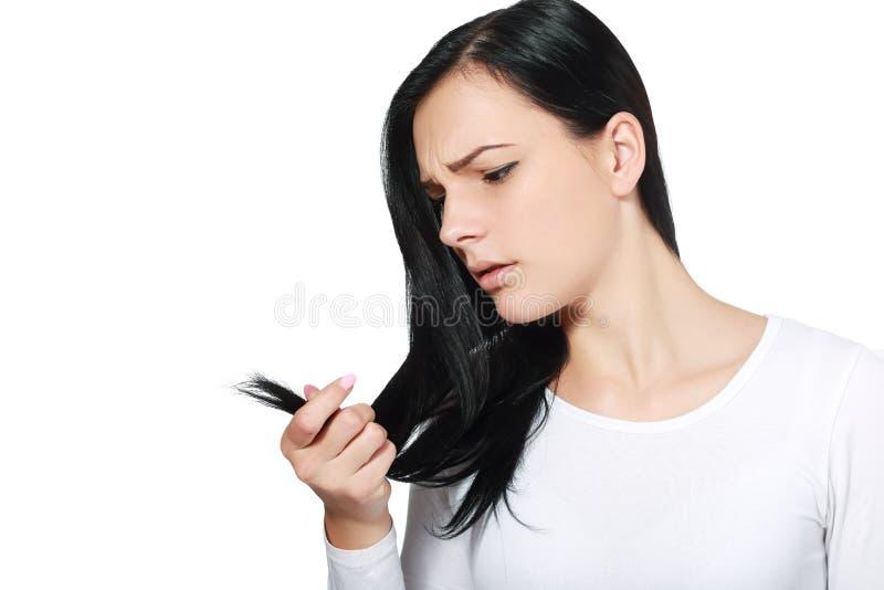Bräckligt hår royaltyfria bilder