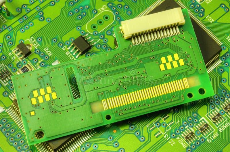 Bräde för elektronisk strömkrets arkivbild