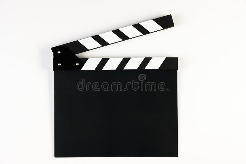Bräde för filmproduktionclapper royaltyfri foto