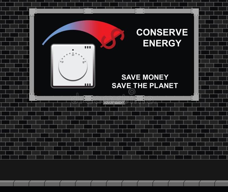 Bräde för fruktkonservenergiadvertizing royaltyfri illustrationer