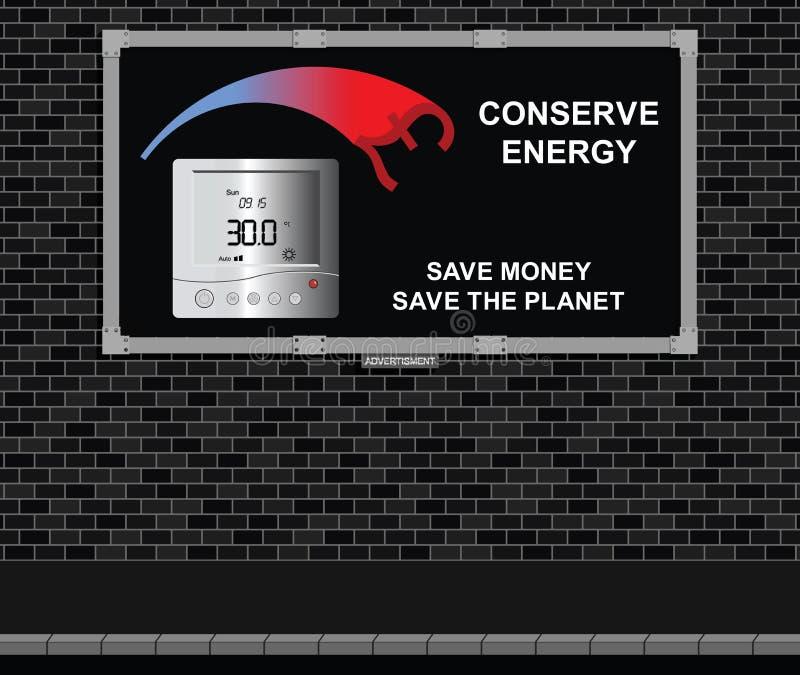 Bräde för fruktkonservenergiadvertizing stock illustrationer