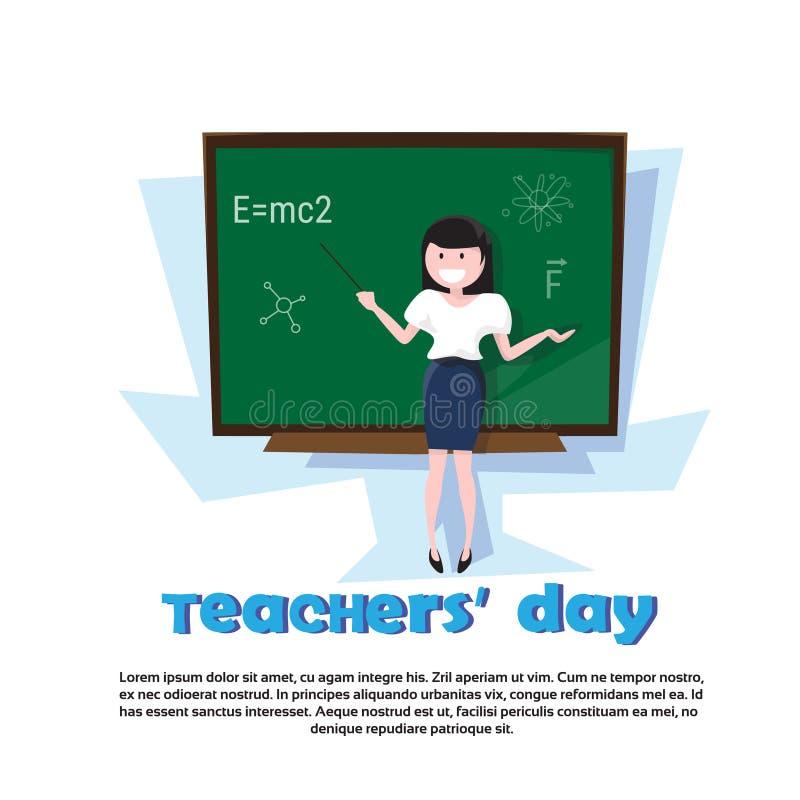 Bräde för grupp för lärareDay Holiday Woman skola stock illustrationer