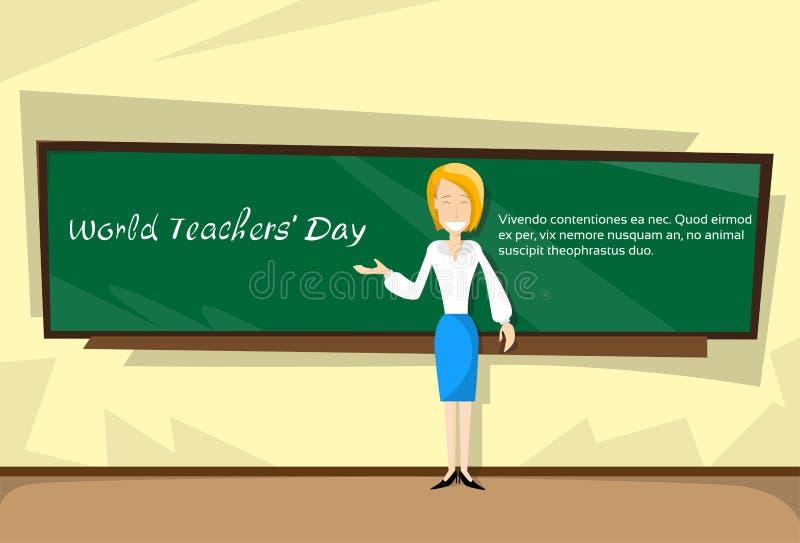 Bräde för grupp för lärareDay Holiday Woman skola vektor illustrationer