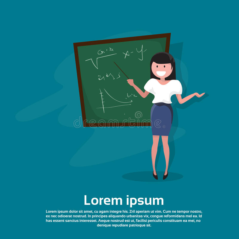 Bräde för grupp för lärareDay Holiday Woman skola royaltyfri illustrationer