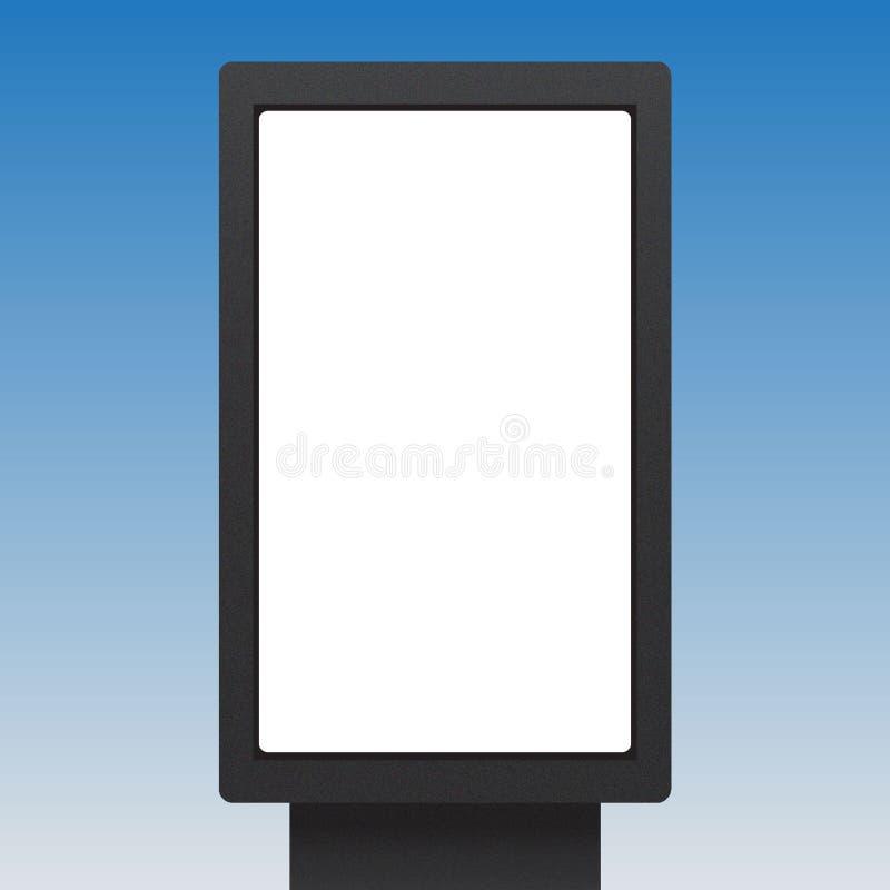 Bräde för information om baner för advertizingaffischtavla royaltyfri illustrationer